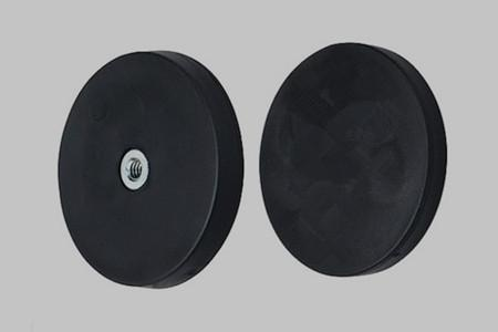 Flat Internal Thread Rubber Coated Pot Magnets