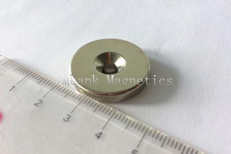 D25xd9.6/4.5x5mm NdFeB countersunk magnet