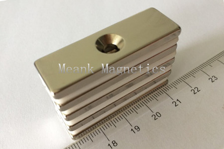 block magnets with countersunk hole