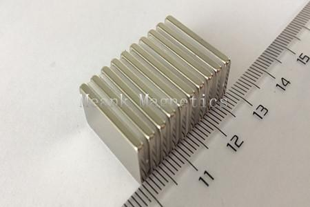 20x10x2mm  neodymium square magnets