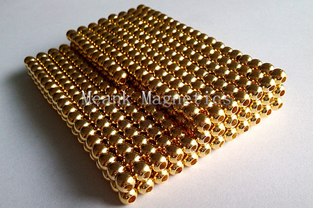 gold sphere magnets with hole