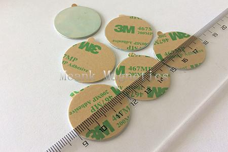 film adhesive backed circular magnets