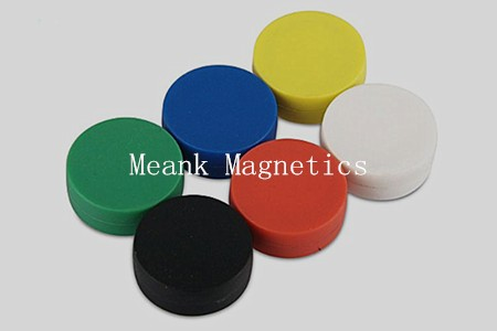 colorful plastic coated disc neodymium magnets