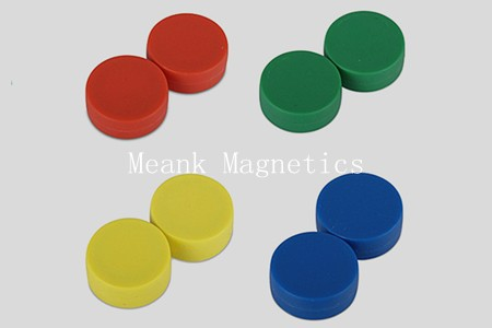 strong neodymium magnet discs with plastic coating